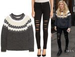 Ellie Goudling's J Brand Maria Photo Ready High Rise Super Skinny & Kasia Sweater