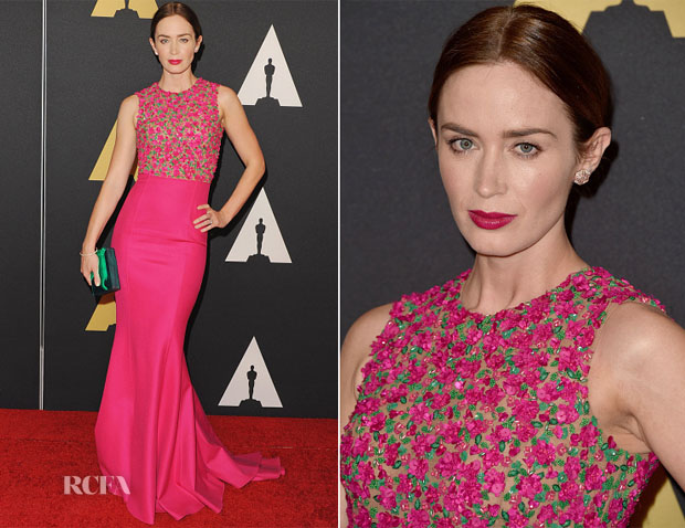 Emily Blunt In Michael Kors  - Academy Of Motion Picture Arts And Sciences' Governors Awards