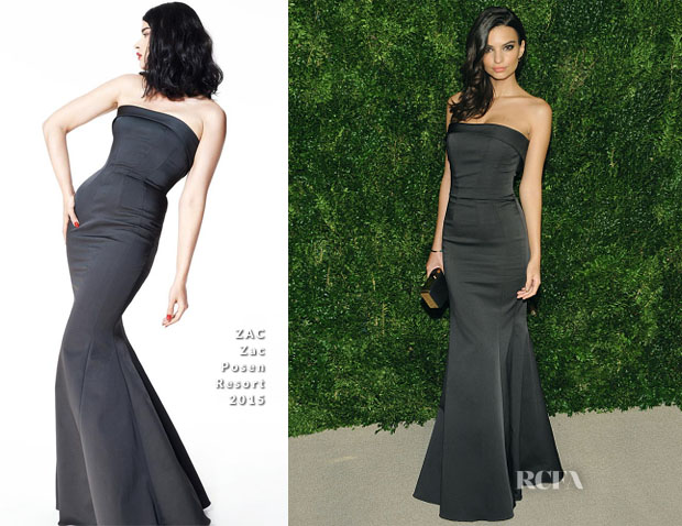 Emily Ratajkowski In ZAC Zac Posen - CFDAVogue Fashion Fund Awards
