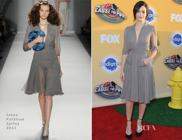 Emmy Rossum In Jenny Packham - FOX's Cause For Paws An All-Star Dog Spectacular