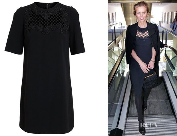 Eva Herzigova's Dolce & Gabbana lace detail shift dress