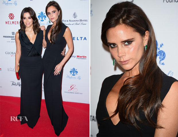 Eva Longoria and Victoria Beckham In Victoria Beckham - 5th Global Gift Gala