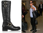 Eva Longoria's Jimmy Choo Yule Leather Biker Boots