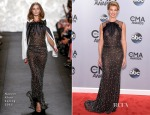 Faith Hill In Naeem Khan - 2014 CMA Awards