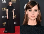 Felicity Jones In Alexander McQueen - 2014 Hollywood Film Awards