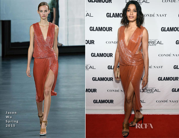 Freida Pinto In Jason Wu - Glamour Women Of The Year Awards
