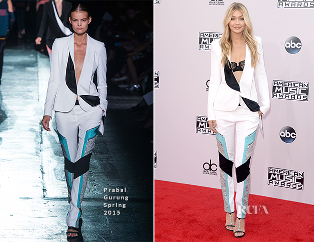 Gigi Hadid In Prabal Gurung - 2015 American Music Awards