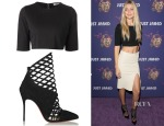 Gigi Hadid's Sam & Lavi Crop Top and Christian Louboutin Mrs Bouglione Booties