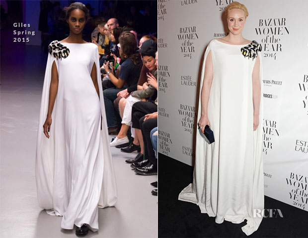 Gwendoline Christie In Giles - Harper's Bazaar Women of the Year Awards
