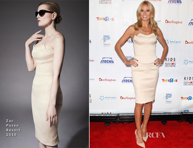 Heidi Klum In Zac Posen - Kids Fashion Delivers Annual Gala