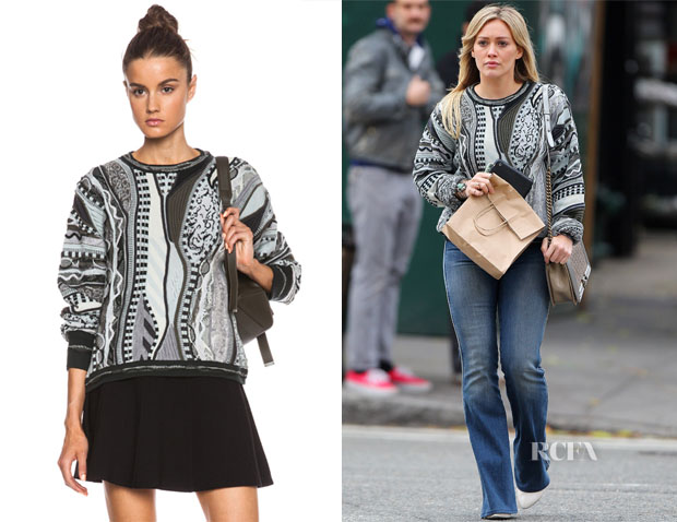 Hilary Duff's Rag & Bone x Coogi Cropped Sweater