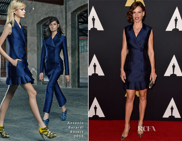 Hilary Swank In Antonio Berardi - Academy Of Motion Picture Arts And Sciences' Governors Awards