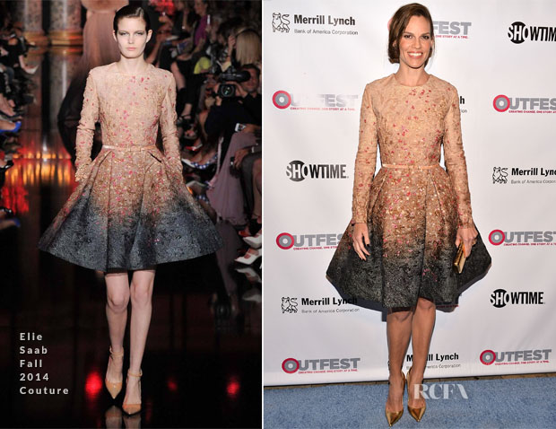 Hilary Swank In Elie Saab Couture - 2014 Outfest Legacy Awards