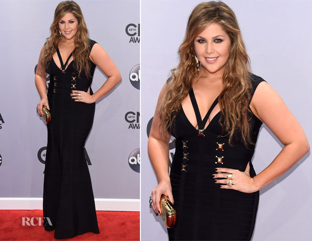 Hillary Scott In Herve Leger - 2014 CMA Awards