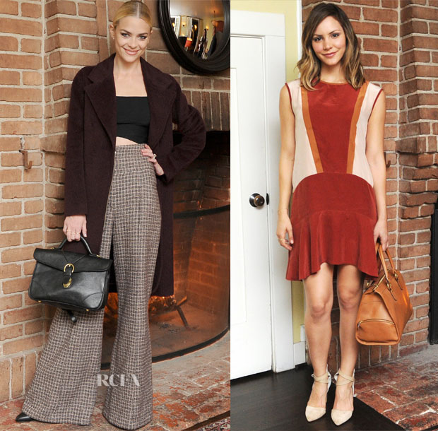 Jaime King In Alexander Wang & Chanel and Katharine McPhee In Madewell - Ghurka Collection Launch Party
