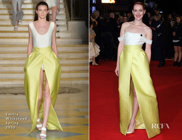 Jena Malone In Emilia Wickstead - 'The Hunger Games Mockingjay – Part 1′ London Premiere