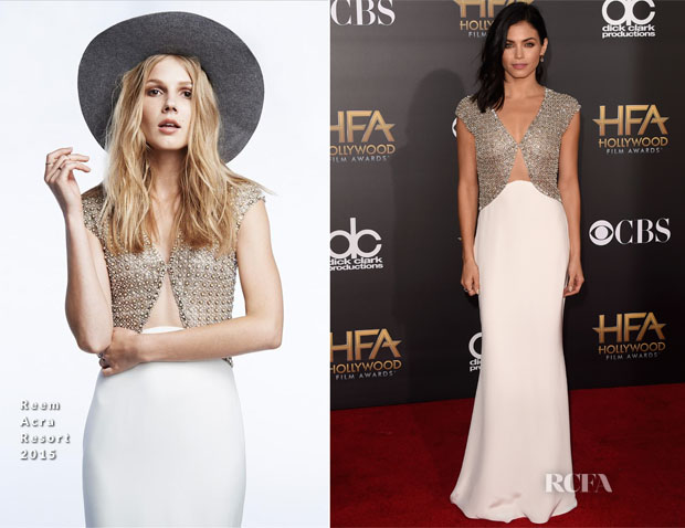 Jenna Dewan-Tatum In Reem Acra - 2014 Hollywood Film Awards
