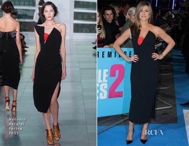 Jennifer Aniston In Antonio Berardi - Horrible Bosses 2′ London Premiere