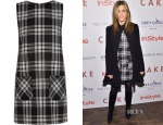 Jennifer Aniston's Karl Lagerfeld Punk Tartan Wool Mini Dress