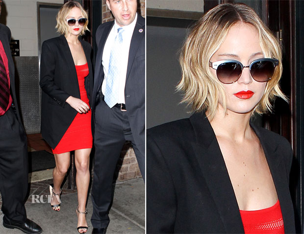 Jennifer Lawrence In Antonio Berardi -  Late Show With David Letterman