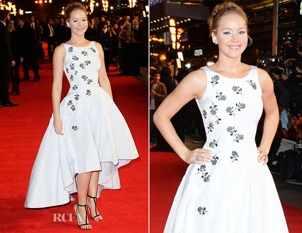 Jennifer Lawrence In Christian Dior - 'The Hunger Games Mockingjay – Part 1′ London Premiere