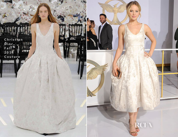 Jennifer Lawrence In Christian Dior Couture - 'The Hunger Games Mockingjay - Part 1' LA Premiere