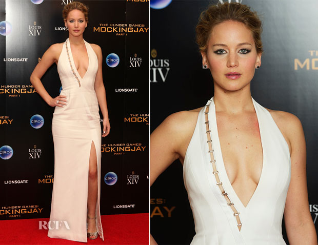 Jennifer Lawrence In Mulger by David Koma - 'The Hunger Games Mockingjay – Part 1' After-Party