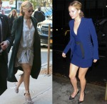 Jennifer Lawrence In Ulla Johnson & Mugler by David Koma - 'Good Morning America' & 'The Colbert Report'