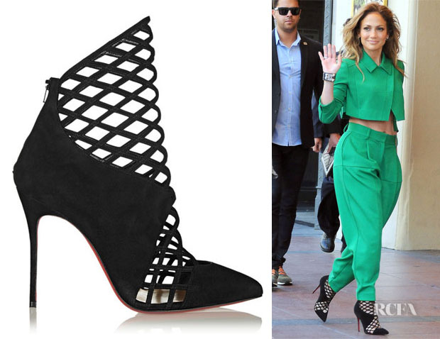 Jennifer Lopez' Christian Louboutin Mrs Bouglione Booties
