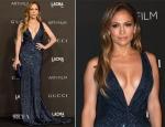 Jennifer Lopez In Gucci Première - 2014 LACMA Art + Film Gala
