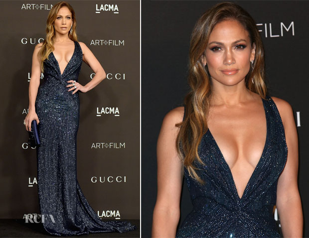 Jennifer Lopez In Gucci - 2014 LACMA Art + Film Gala