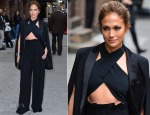 Jennifer Lopez In Noon by Noor, Milly & Paule Ka - Late Show With David Letterman