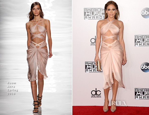 Jennifer Lopez In Reem Acra - 2014 American Music Awards