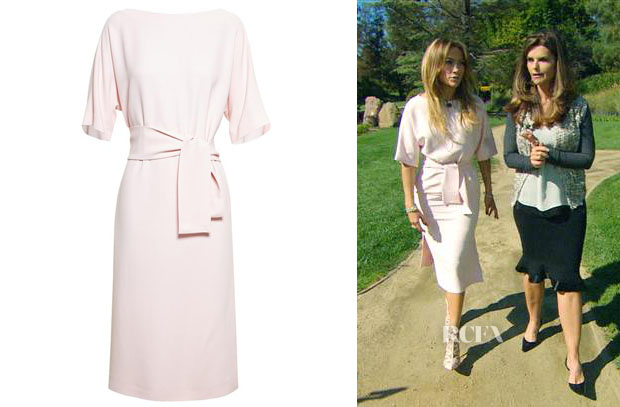 Jennifer Lopez' Osman Belted Crepe Dress