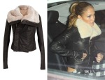 Jennifer Lopez' Rick Owens Beaver Classic Biker Leather Jacket