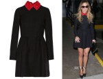 Jennifer Lopez' Valentino Contrast Collar Dress