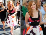 Jessica Chastain In Diane von Furstenberg - Hollywood Walk Of Fame Ceremony
