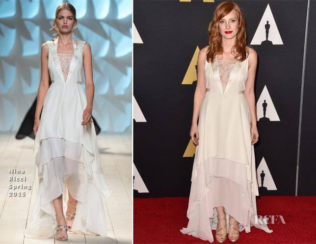 Jessica Chastain In Nina Ricci - Academy Of Motion Picture Arts And Sciences' Governors Awards