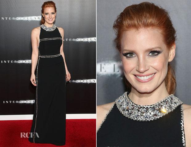Jessica Chastain In Prada - 'Interstellar' New York Premiere
