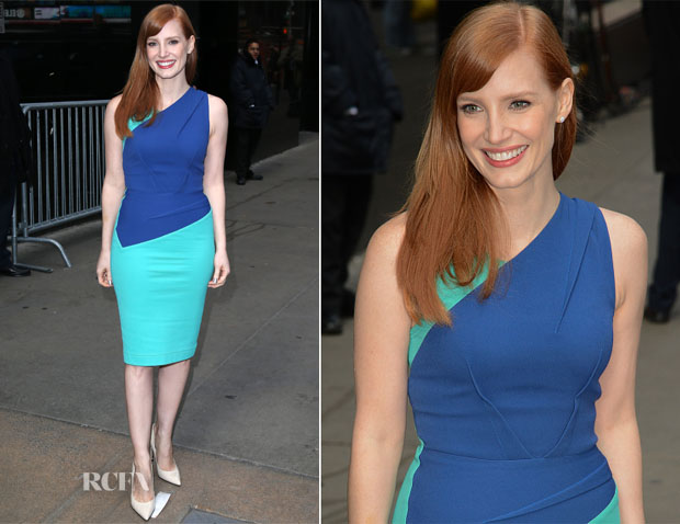 Jessica Chastain In Roland Mouret - Good Morning America