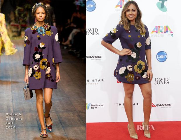 Jessica Mauboy In Dolce & Gabbana - 2014 ARIA Awards