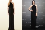 Jessie J's Gucci Black Gown with Crystal Neckline