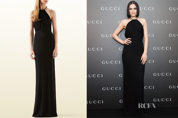 Jessie J's Gucci Gown with Crystal Neckline