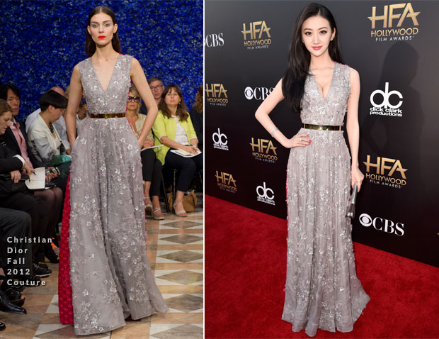 Jing-Tian-In-Dior-Couture-2014-Hollywood-Film-Awards2