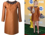 Julianne Hough's Dsquared² embellished neck shift dress