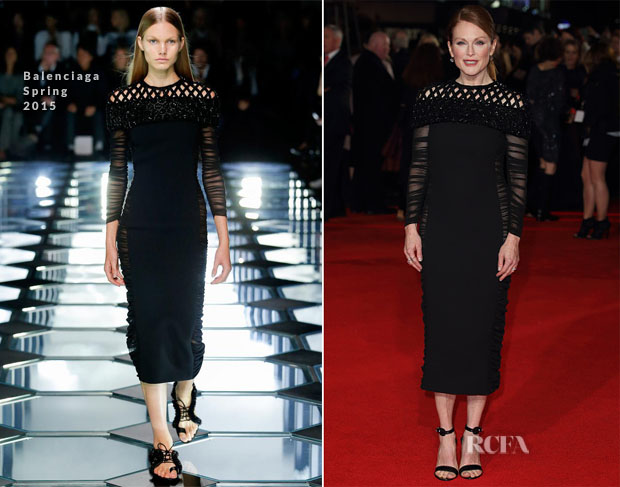Julianne Moore In Balenciaga - 'The Hunger Games Mockingjay – Part 1' London Premiere