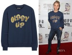 Kaley Cuoco's House of Holland Giddy Up Sequined Cotton-Jersey Sweatshirt