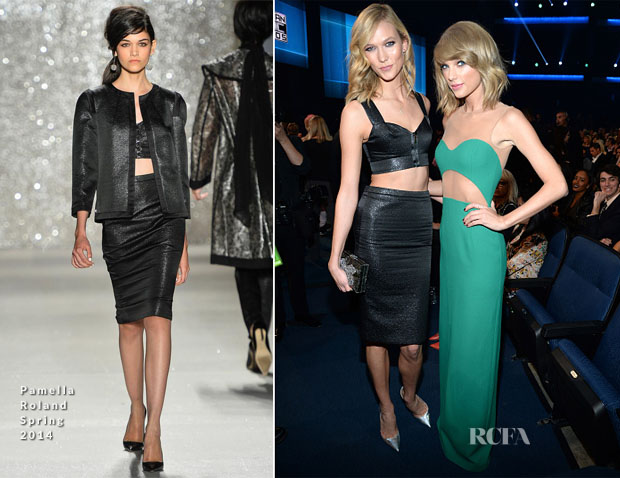 Karlie Kloss In Pamella Roland - 2014 American Music Awards