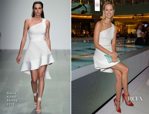 Karolina Kurkova In David Koma - Vogue Fashion Dubai Experience