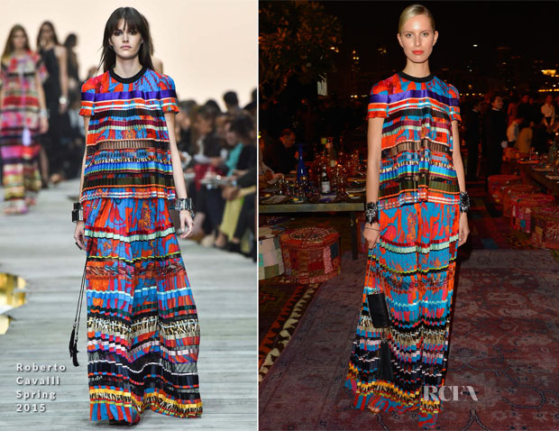 Karolina Kurkova In Roberto Cavalli - Vogue Fashion Dubai Experience Gala Event